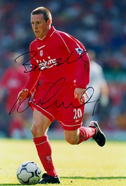 Nick Barmby, Liverpool & England, signed 6x4 inch photo.